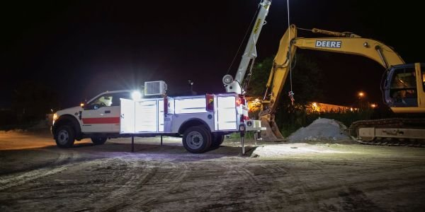The new boom tip lights are capable of covering 2,700 sq. ft. at a 30-foot radius.