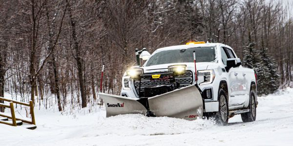 """Available with either powder-coated or stainless steel blades, the RDV V-plow is 7' 6"""" wide as a..."""