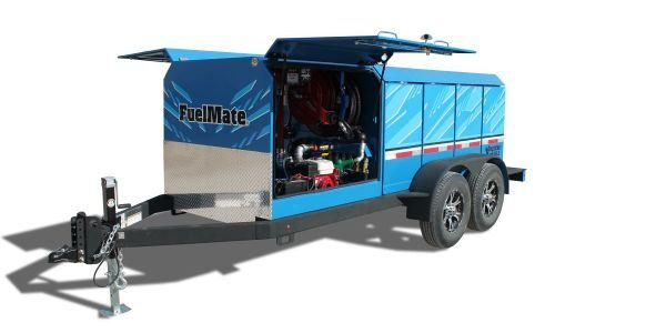The fuel trailer is equipped with seven 110-gallon internally baffled fuel tanks with sight...