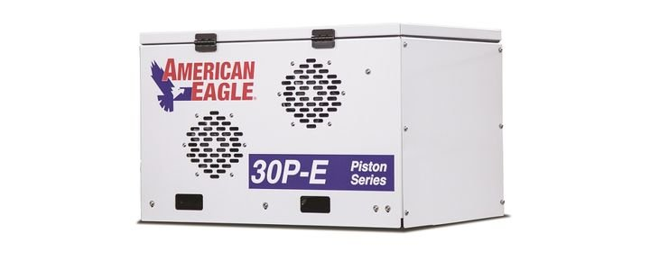 An electric air compressor was introduced at the show. - Photo courtesy of American Eagle