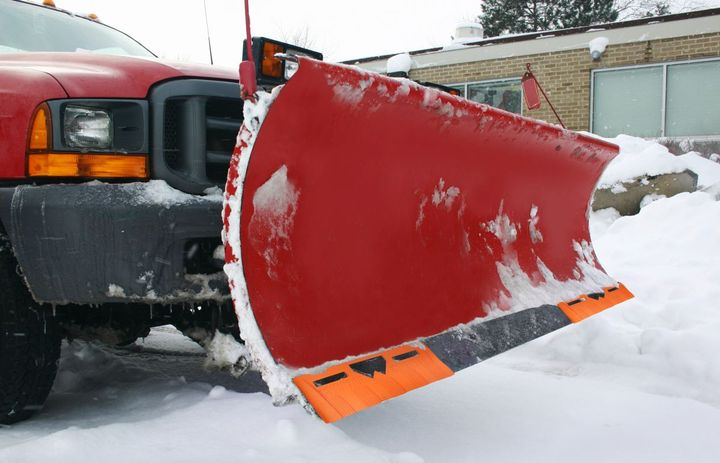 Intended for use on city streets and parking lots, Xtendor Universal plow guards reduce uneven and premature wear and help to eliminate in-season blade changes, which reduces downtime and increases contractor productivity. - Photo: Winter Equipment