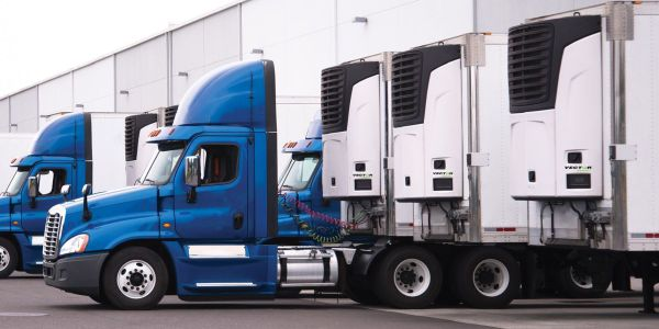The dual-discharge aspect of Carrier Transicold's Vector 8611MT multi-temperature trailer...