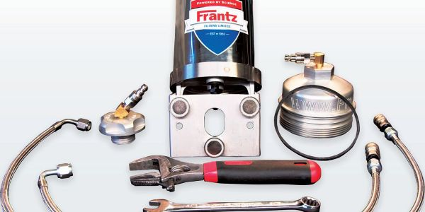 The custom system includes a Frantz filter, an oil filter cap, an oil-fill cap, a gasket and two...