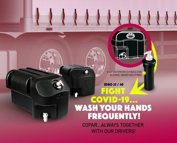 The new, vehicle-mounted hand-washing stations can go anywhere the vehicle goes. - Photo: National Fleet Products