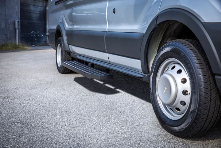 nspired by Luverne's Grip Step7-inch running boards, Grip StepXL features the same high-traction, expanded metal treads. - Photo: Luverne