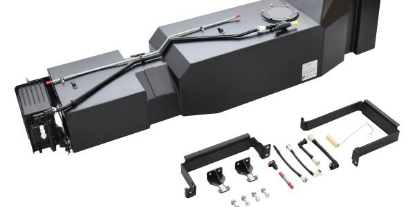 The 45-gallon high-capacity replacement fuel tank forthe Ford F-150 comes with straps and...