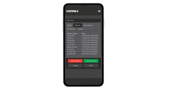 CONNEX Jobsite includes an electronic material ticket management system that automates...