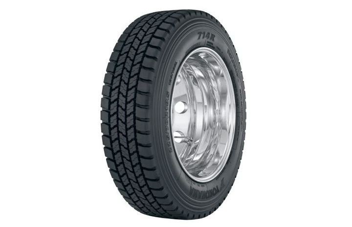 Engineered for urban pick-up/delivery applications, the open shoulder drive tire debuted at the TMC show in February. - Photo: Yokohama Tire