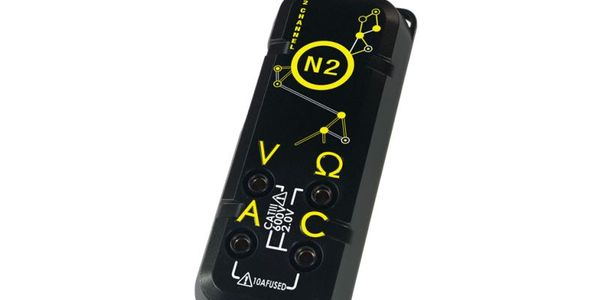 The two onboard voltmeters allow for standard measurements (volts, ohms, and amps) to be taken...
