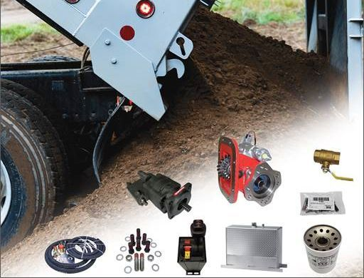 """Eaton's new """"wet kit"""" packages simplify ordering by including all the Power Takeoff (PTO) components needed for end-dump applications into a single part number. - Photo: Eaton"""