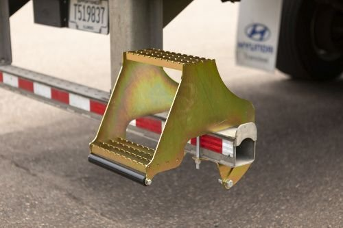 Equips your semi trailer, box truck, or flat deck with safer, easier, two-step access. - Photo: RETRAC