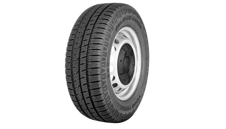 The new Celsius Cargo all-weather commercial tire is available now in three popular fitments including the Ford Transit 150/250/350 and Ford F-250/350 Super Duty.  - Photo: Toyo Tires
