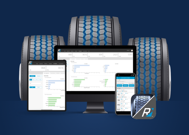 The app identifies tire related issues during the regular preventive maintenance process before they become severe in nature and can even predict future tire needs based on past usage and tire wear rate. - Photo: Rhombus