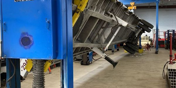 A rotating trailer positioner allows a trailer to be adjusted to different angles allowing ease...