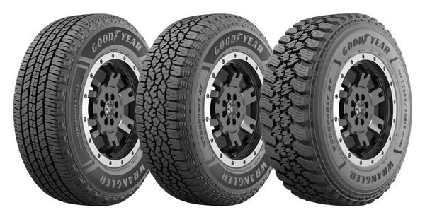 The Wranger Workhorse Powerline features three tires. The Wrangler Workhorse AT and RT feature...