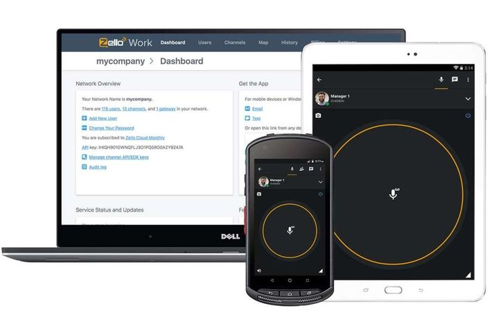 Zello allows businesses to use any smart device and mix of WiFi/data networks and the ability to configure settings for up to 10,000 users. - Photo: Zello