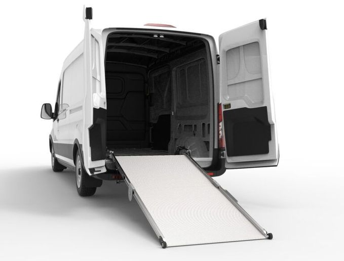 The ramp can be used on vehicles with deck heights ranging from 20 to 48 inches and door heights exceeding a minimum of 60 inches. - Photo: Link Mfg.