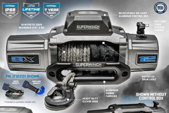 Superwinch SX 12 Series winches are engineered to provide users with power, speed, innovation, and proven performance. - Photo: Superwinch
