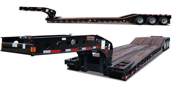The Workhorse 55PVR is equipped with the Fontaine hydraulic removable gooseneck that can connect...