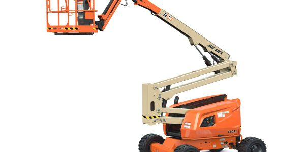 The 450AJ HC3 boom includes a chassis tilt alarm that alerts the operator when the machine is on...