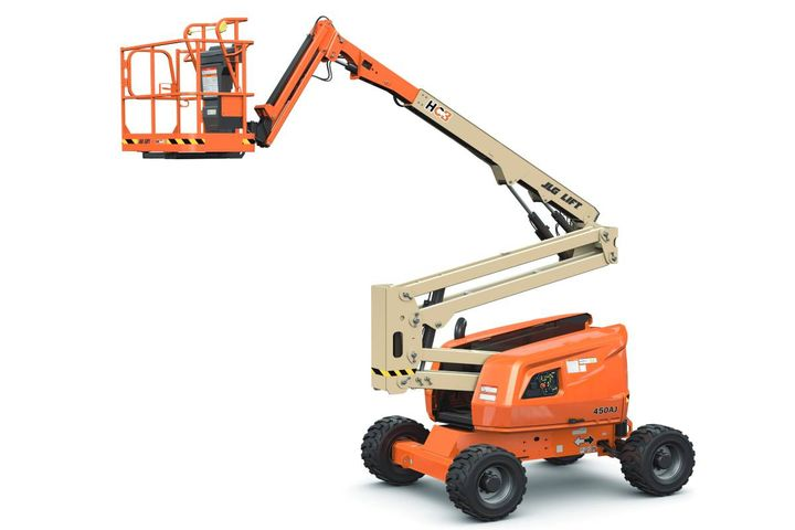 The 450AJ HC3 boom includes a chassis tilt alarm that alerts the operator when the machine is on a slope greater than five degrees. - Photo: JLG