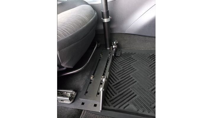 The Universal Adjustable Seat Base can be utilized by both left and right hand drivers. - Photo: Gamber-Johnson