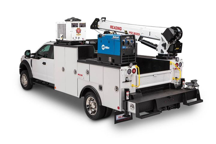 The crane body is built and designed to deliver lifting capability, enhanced safety and lighting, and ease of accessory installations. - Photo:Reading Truck Group