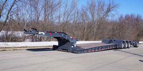 Low-Profile Hydraulic Detachable Gooseneck Paver Trailer