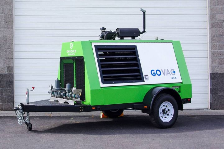 This simple, mobile, fully integrated solution will provide operators of natural gas pipelines a tool to safely minimize their greenhouse gas (GHG) emissions during routine pipeline maintenance. - Photo:Onboard Dynamics