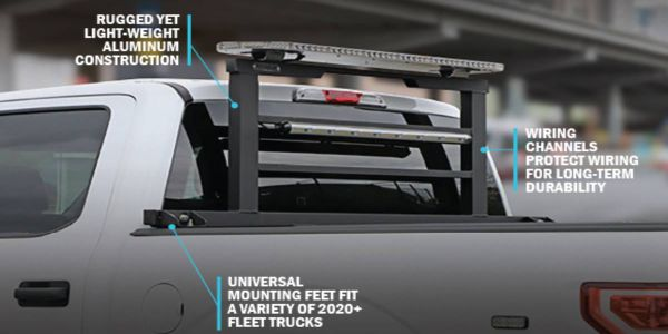 The solution features wire channels within the truck rack frame which keep wires safe and...