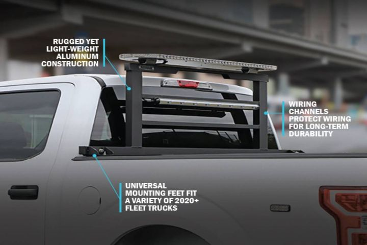 The solution features wire channels within the truck rack frame which keep wires safe and protected while eliminating clutter for an organized, professional appearance. - Photo: Gamber-Johnson