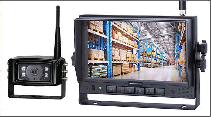 The CK700DW also comes with a seven-inch monitor featuring four HD camera inputs and up to 160-hours of video recording time. This system helps you keep an eye on pedestrians, equipment, and other obstacles around your truck. - Photo: Superior Signals