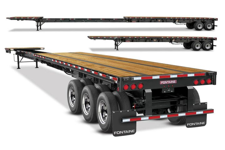 The four new Xcalibur extendable models are 53 feet in the closed position and 90 feet fully opened. - Photo:Fontaine Heavy-Haul