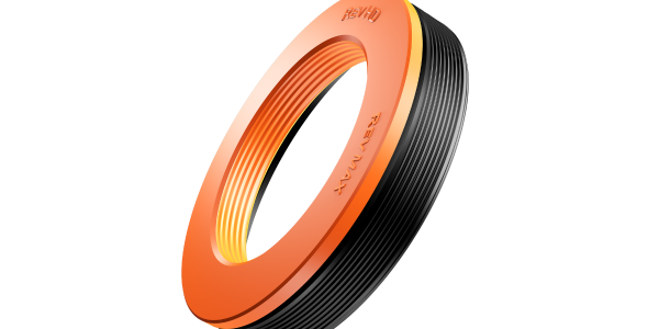 The improved Rev Max seal features the orange color of the seal's top plate, which was formed...
