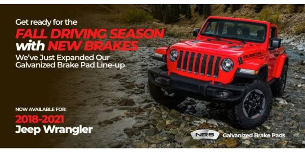 Galvanized brake pads from NRS Brakes deliver the safety and performance Jeep Wranglers require,...