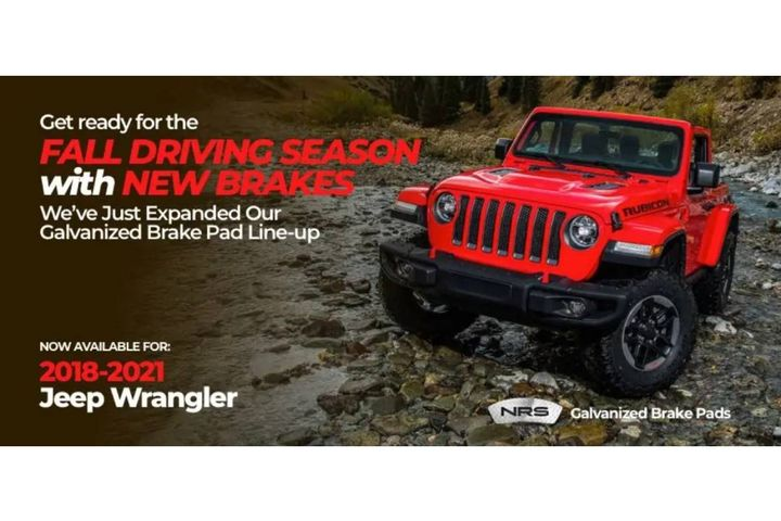 Galvanized brake pads from NRS Brakes deliver the safety and performance Jeep Wranglers require, making them a perfect match. - Photo:NRS Brakes