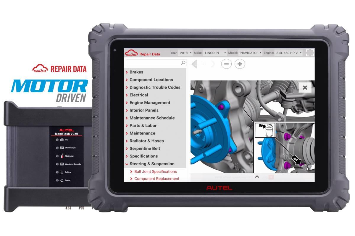 Autel Announces Partnership with Motor Repair Database