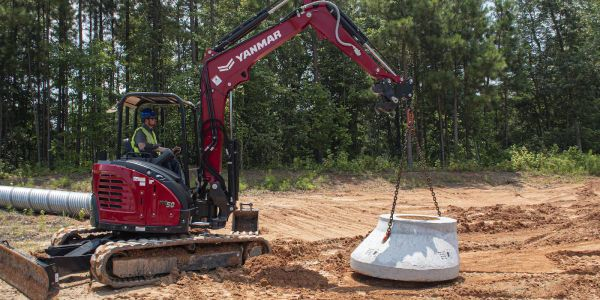 The new option reduces the risk of damage to the machine, buckets, or other attachments...