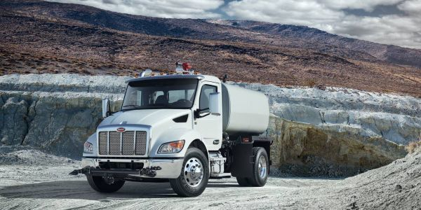 Peterbilt will display its lineup of medium-duty work trucks at The Utility Expo show in...