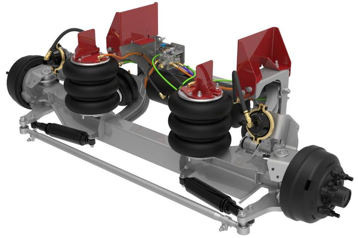 Link's automated ROI self-steer and non-steer auxiliary suspension systems will increase asset utilization, reduce training time, improve safety, and will be compatible with OEM and aftermarket integration. - Photo: Link