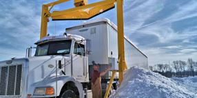Scraper Systems FleetPlows Quickly Remove Snow from Trucks
