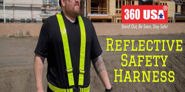 The reflective safety harness provides cool, comfortable, one-size-fits-all alternative to...