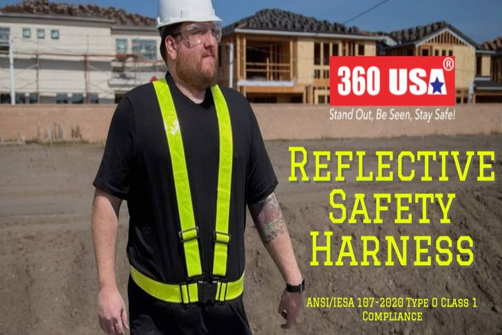 The reflective safety harness provides cool, comfortable, one-size-fits-all alternative to traditional high-visibility vests. - Photo: 360 USA