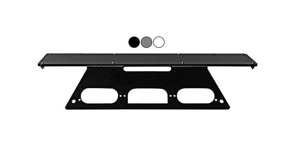 Larson Electronics vehicle mounting plates are available in white, black, and grey.