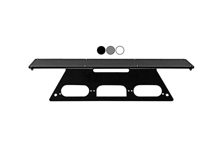 Larson Electronics vehicle mounting plates are available in white, black, and grey. - Photo: Larson Electronics