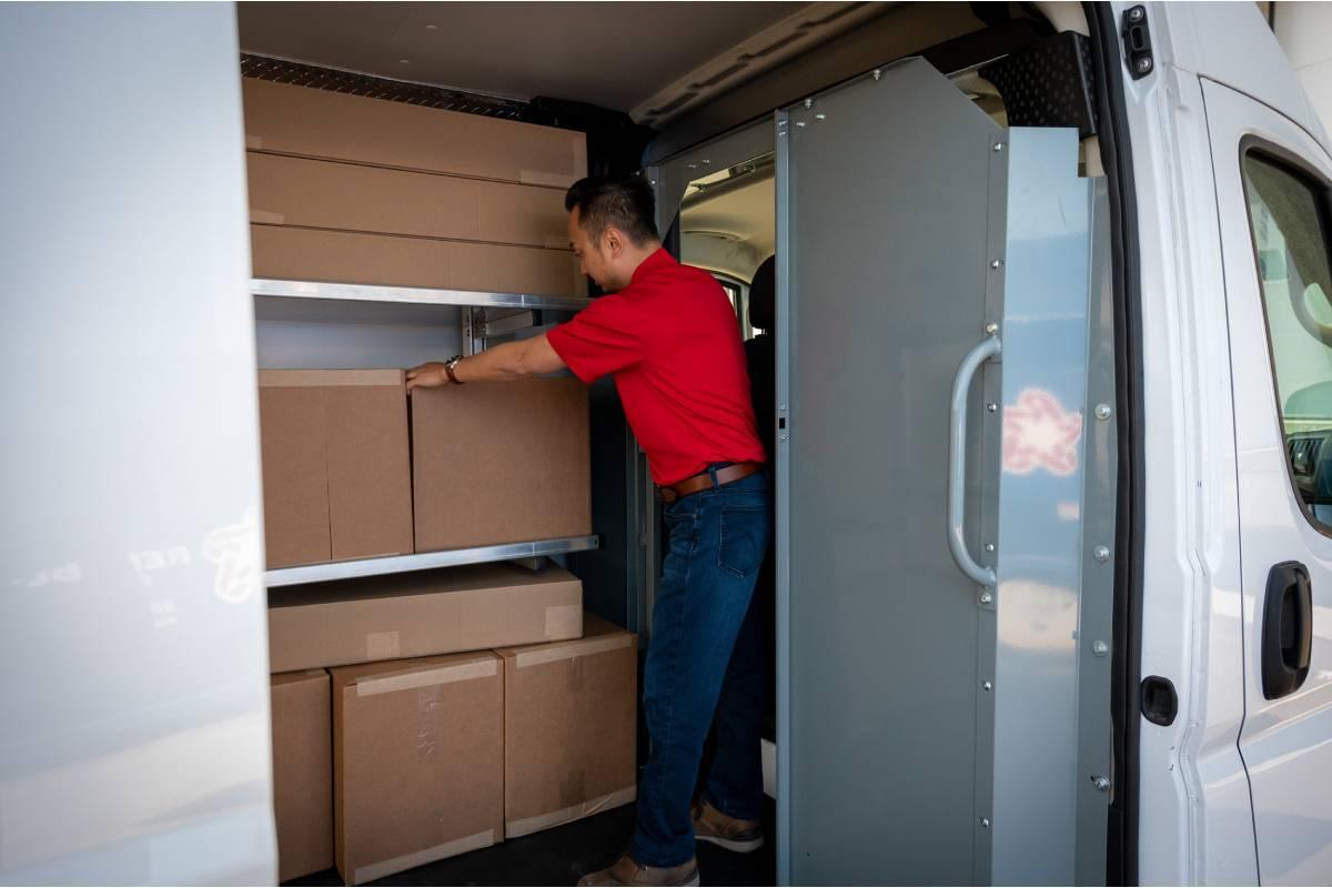 Safe Fleet Releases Delivery Fleet Cantilever Fold-Up Shelving, Modular Sliding Partitions