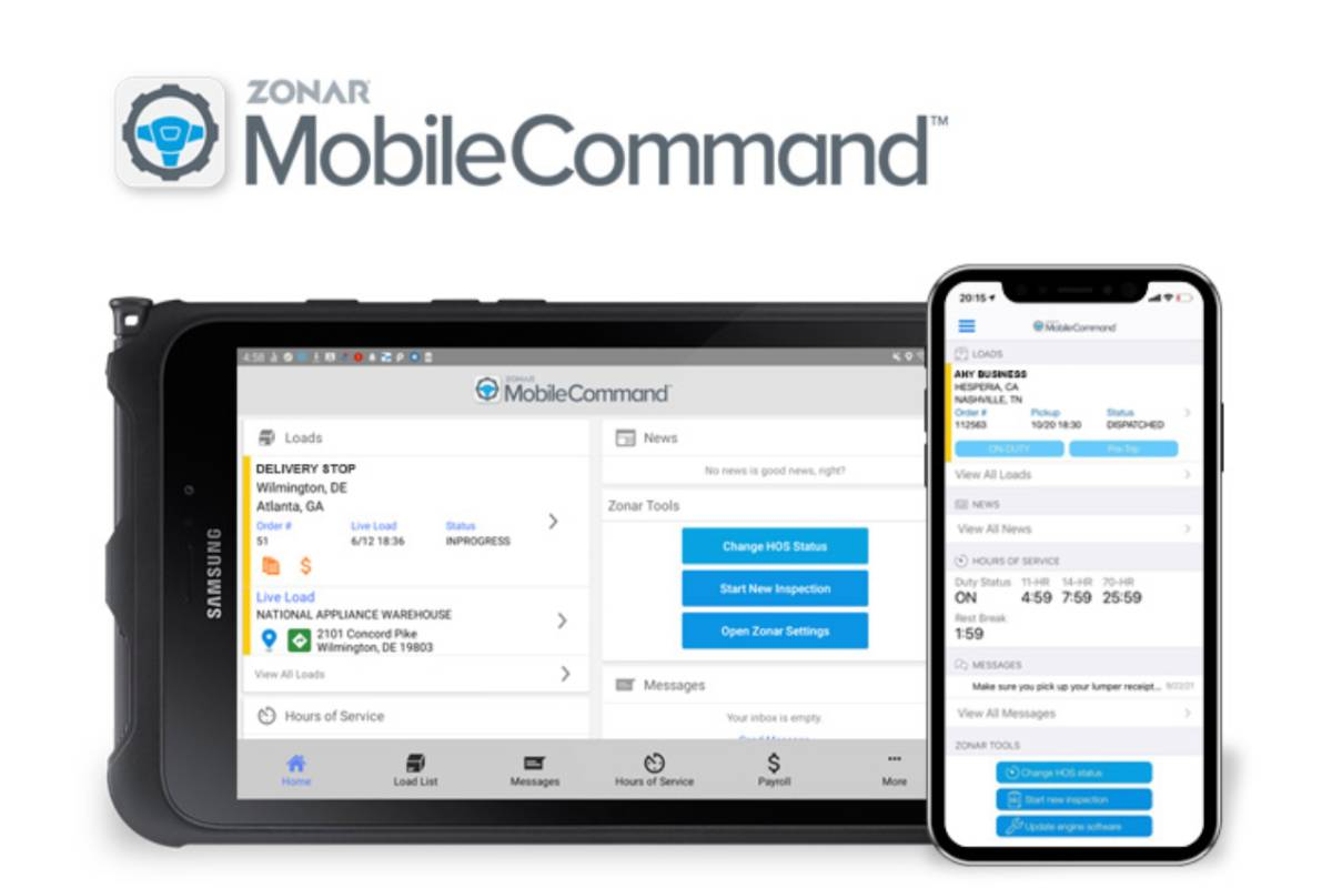 Zonar Launches MobileCommand Driver Workflow Solution