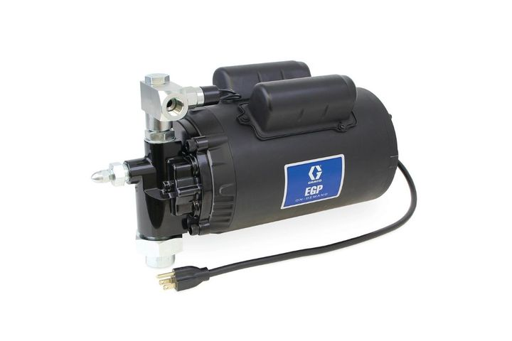 A55-gallon drum of 10W oil at room temperature can be emptied in less than 8 minutes with the 8 gpm (30.3 lpm) flow rate transfer model. - Photo: Graco Inc.