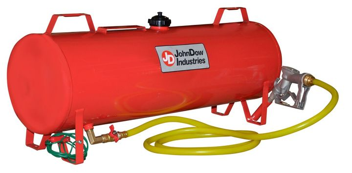 The fuel tank was specifically designed to be bolted into a trailer for those needing to transport fuel working in the landscaping, farming, recreational, construction, and golf course maintenance fields, greatly reducing the number of trips to the fuel station to refuel. 