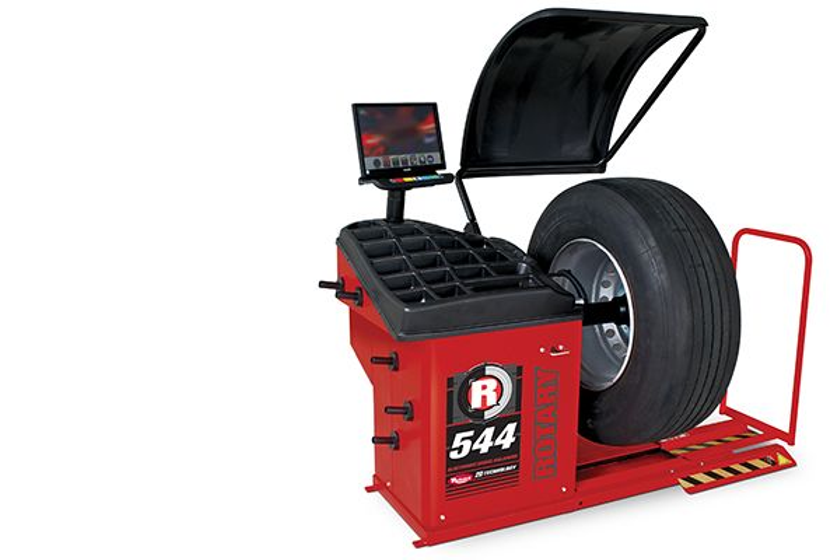 The R44 truck wheel balancer includes specific balancing programs for static, dynamic and ALU...